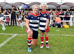 Amber Reed (c) of Bristol Ladies and mascot - Mandatory by-line: Robbie Stephenson/JMP - 18/09/2016 - RUGBY - Cleve RFC - Bristol, England - Bristol Ladies Rugby v Aylesford Bulls Ladies - RFU Women's Premiership