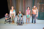 © Tony Nandi. 03/05/2014. Made up of disabled and non-disabled dancers, Stopgap Dance Company performs the London premiere of its latest work Artificial Things, following a critically acclaimed UK and European tour. Lillian Baylis Studio, Sadler's Wells Theatre, London. The company.