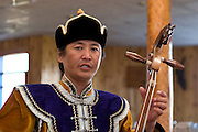 Mongolian actors in traditional costume