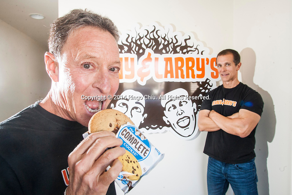 Don Croutch, right, and Barry Turner, founder and president of nutrition supplement maker Lenny and Larry&rsquo;s. <br /> (Photo by Ringo Chiu/PHOTOFORMULA.com)