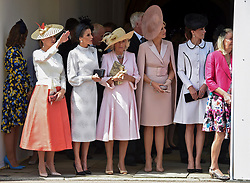 Queen Letizia of Spain, Camilla, Duchess of Cornwall, Queen Maxima of The Netherlands, Catherine, Duchess of Cambridge attends Order of the Garter service at St George's Chapel on June 17, 2019 in Windsor, United Kingdom. Photo by Archie Andrews/ABACAPRESS.COM