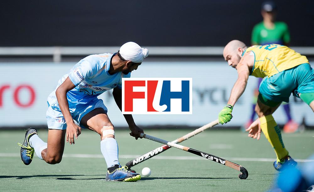 BREDA - Rabobank Hockey Champions Trophy<br /> Final Australia - India<br /> Photo: Mandeep Singh.<br /> COPYRIGHT WORLDSPORTPICS FRANK UIJLENBROEK