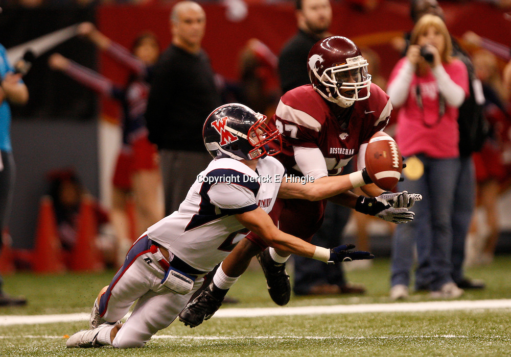 2008 December 13: During the Class 5A LHSAA State Championship game, a 14-3 victory by the Destrehan Wildcats over the West Monroe Rebels at the Louisiana Superdome in New Orleans, LA (photo by Derick Hingle/Nola.com)
