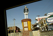A statue of the late King Birendra of Nepal, who was murdered in alongside 10 other members of the royal family in 2001, stands in the a roadside town in the district of Dang, Saturday, April 24, 2004. Although more than 600 people have been injured in battles with the police and the street protestors, the five major political parties continue their demonstrations, demanding that King Gyanendra dismiss the government appointed by him, and allow new elections or form a government led by the major parties in the last Parliament.