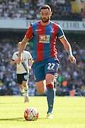 Damien Delaney on the ball during the Barclays Premier League match between Tottenham Hotspur and Crystal Palace at White Hart Lane, London, England on 20 September 2015. Photo by Alan Franklin.