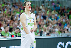 Klemen Prepelic of Slovenia during friendly basketball match between National Teams of Slovenia and Brasil at Day 2 of Telemach Tournament on August 22, 2014 in Arena Stozice, Ljubljana, Slovenia. Photo by Vid Ponikvar / Sportida