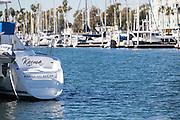 Sailboat at Marina Del Rey Harbor in Los Angeles