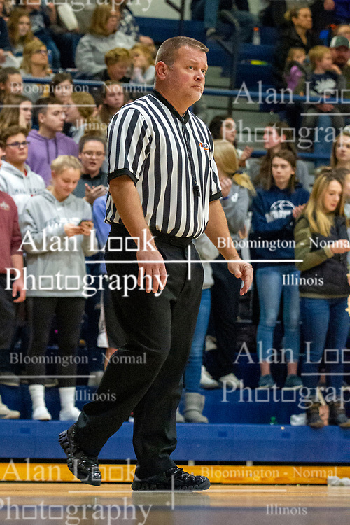 6 December 2019: Boys Basketball game between the Ridgeview Mustangs and the Le Roy Panthers in Ridgeview High School, Colfax IL