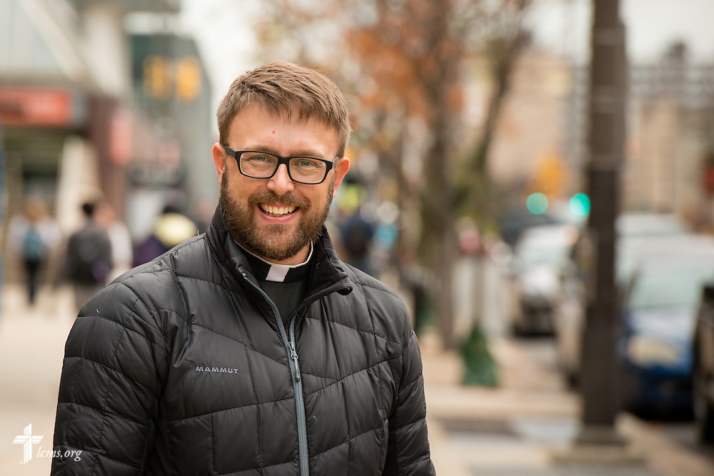 Portrait of the Rev. Adam DeGroot, new national missionary and pastor at Shepherd of the City Lutheran Church, a church plant and focus of Philadelphia Lutheran Ministries, on Monday, Nov. 2, 2015, in Philadelphia.  LCMS Communications/Erik M. Lunsford