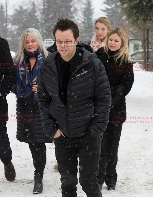 OSLO,  20140130:  Anbjørg Sætre Håtun begravet fra Vestre Aker Kirke i Oslo i dag. Espen Bjørshol Solberg.  FOTO: TOM HANSEN