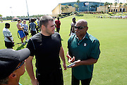 Monday, July 8, 2013 REGGIE WILLIAMS : Former Cincinnati Bengals player and Cincinnati City Councilman Reggie Williams visits his old stomping grounds at the ESPN Wide World of Sports Complex on the Walt Disney property. He was able to meet NFL players and hopefuls on his visit. He helped build the complex from the ground up and was one of Disney's first African American executives.  The Enquirer/Jeff Swinger