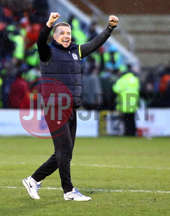 Peterborough United Manager, Darren Ferguson celebrates the victory at full-time - Photo mandatory by-line: Joe Dent/JMP - Tel: Mobile: 07966 386802 08/02/2014 - SPORT - FOOTBALL - Leyton - Brisbane Road - Leyton Orient v Peterborough United - Sky Bet League One