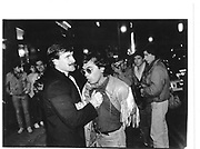Tarig Siddigi being thrown out of Shaftesbury's, Shaftesbury Ave, Soho.  1984. © Copyright Photograph by Dafydd Jones 66 Stockwell Park Rd. London SW9 0DA Tel 020 7733 0108 www.dafjones.com