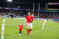 Rugby Union - 2019 Rugby World Cup - Bronze Final (Third Place Play-Off): Wales vs. France<br /> <br /> Alun Wyn Jones of Wales with his family at Tokyo Stadium, Tokyo.<br /> <br /> COLORSPORT/LYNNE CAMERON