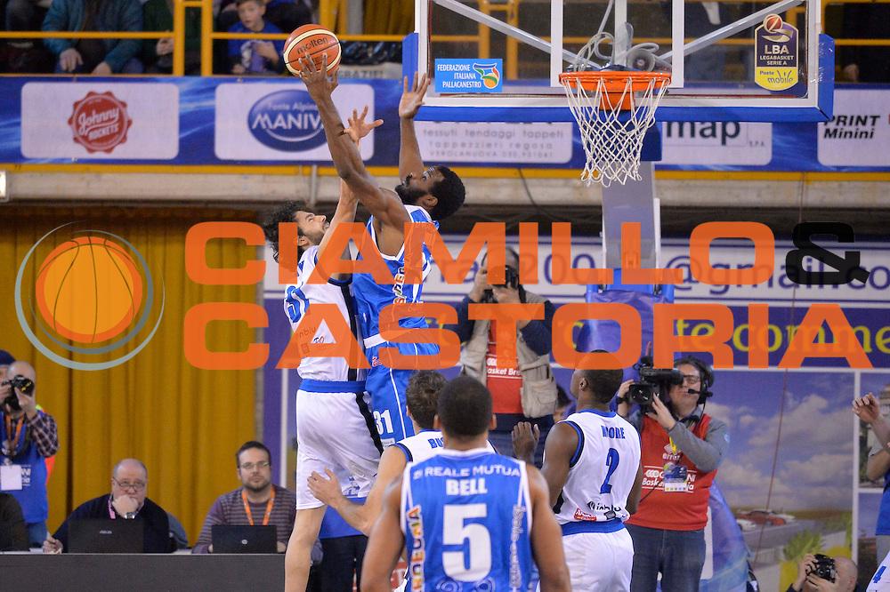 Gani Lawal<br /> Germani Basket Brescia Leonessa - Banco di Sardegna Dinamo Sassari <br /> Lega Basket Serie A 2016/2017<br /> Montichiari, 05/02/2017<br /> Foto Ciamillo-Castoria