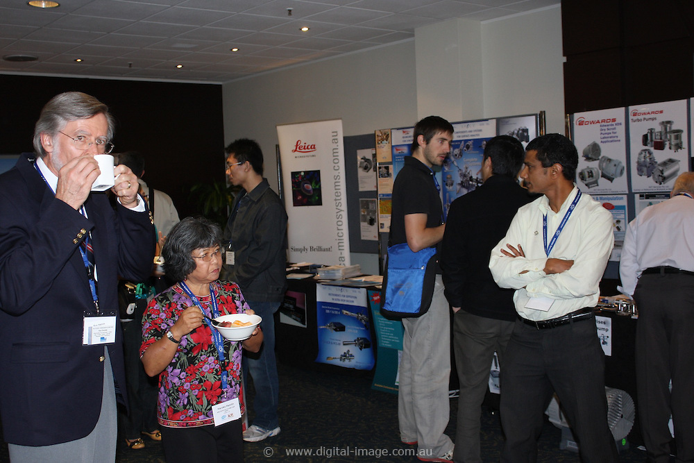 Synchrotron AO Week. Exhibitors area at AO Week