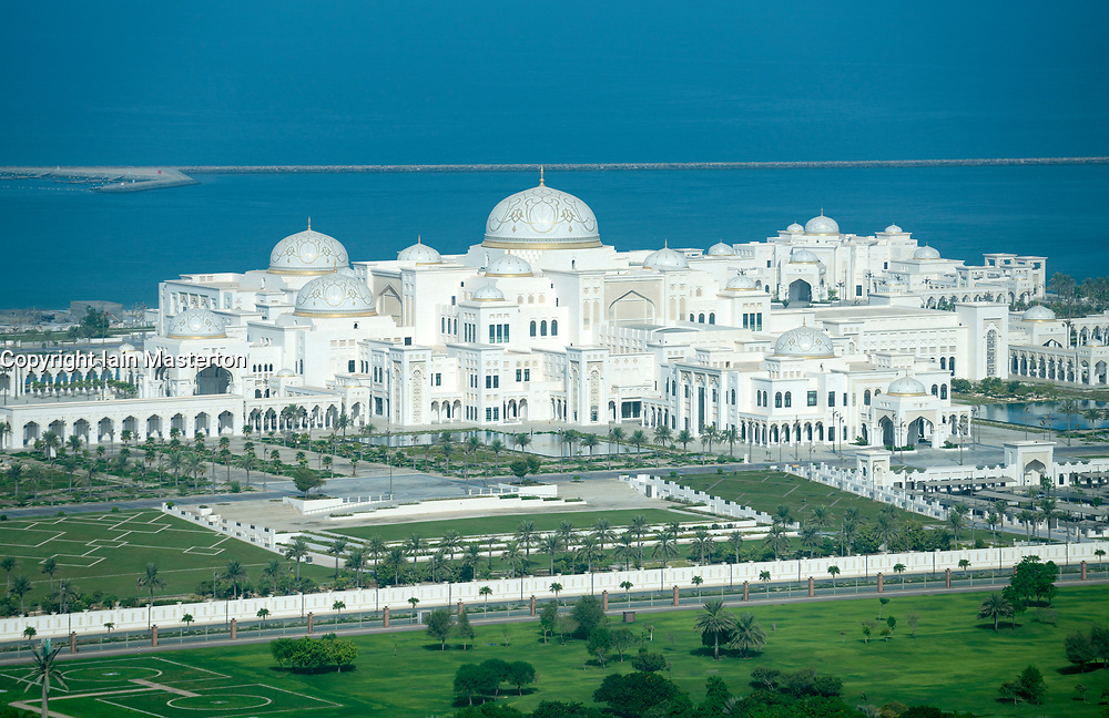 View of new Presidential Palace in Abu Dhabi, UAE, United Arab Emirates