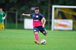 Manja Rogan of ZNK Pomurje during the UEFA Women's Champions League Qualifying Match between ZNK Teleing Pomurje (SLO) and Olimpia Cluj (ROU) at Sportni Park on August 16, 2015 in Beltinci, Slovenia. Photo by Mario Horvat / Sportida