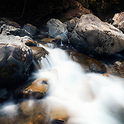 Boulders and running water, part of the scenic Nonegawa (野根川) river system in Shikoku.