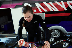 Lisa Klein (GER) prepares for Stage 4 of 2019 OVO Women's Tour, a 158.9 km road race from Warwick to Burton Dassett, United Kingdom on June 13, 2019. Photo by Sean Robinson/velofocus.com