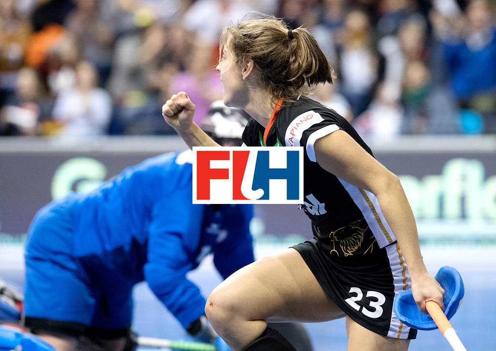 BERLIN - Indoor Hockey World Cup<br /> Quarterfinal 3: Germany - Poland<br /> foto: Marie M&auml;vers.<br /> WORLDSPORTPICS COPYRIGHT FRANK UIJLENBROEK
