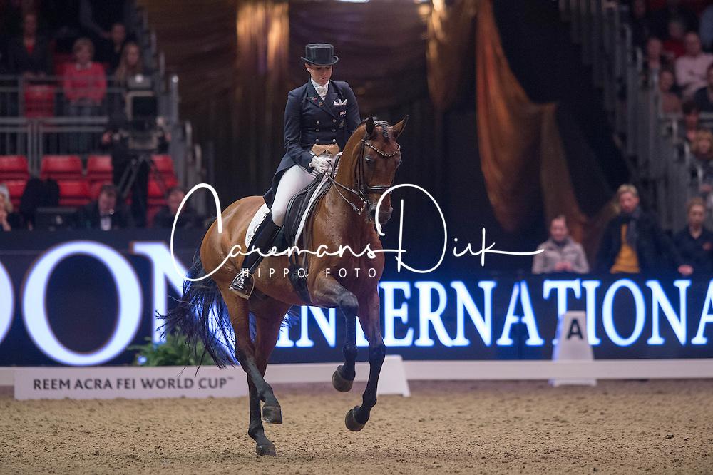 Oatley Lyndal (AUS) - Sandro Boy 9<br /> Reem Acra FEI World Cup Dressage K&uuml;r<br /> London International Horse Show Olympia 2013<br /> &copy; Hippo Foto - Jon Stroud