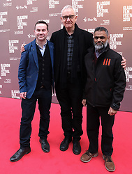 "Glasgow Film Festival, Sunday 3rd March 2019<br /> <br /> UK Premiere of ""Do No Harm (Eminent Monsters)""<br /> <br /> Pictured: Stephen Bennett (Director), John Archer (Producer) and Moazzam Begg (Contributer)<br /> <br /> Alex Todd 