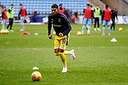 Wimbledon forward Jake Jervis (10), on loan from Luton Town, warming up  during the EFL Sky Bet League 1 match between Coventry City and AFC Wimbledon at the Ricoh Arena, Coventry, England on 12 January 2019.