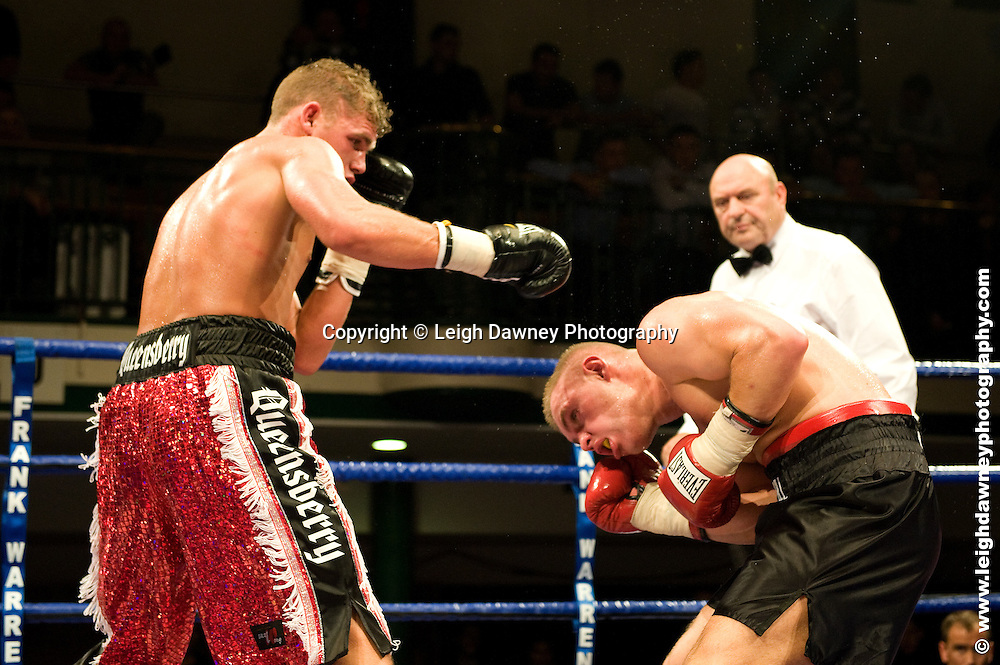 Billy Joe Saunders defeats Alex Spitko at York Hall, Bethnal Green 9th ocotber 2009. Frank Warren Promotions.Credit: ©Leigh Dawney Photography