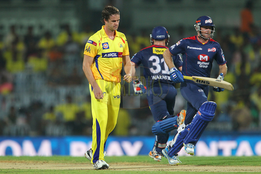 Albie. Morkel walks back during match 64 of the Pepsi Indian Premier League between The Chennai Superkings and the Delhi Daredevils held at the MA Chidambaram Stadium in Chennai on the 14th May 2013..Photo by Ron Gaunt-IPL-SPORTZPICS   .. .Use of this image is subject to the terms and conditions as outlined by the BCCI. These terms can be found by following this link:..http://www.sportzpics.co.za/image/I0000SoRagM2cIEc