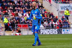 Darren Randolph of Middlesbrough celebrates his teams second goal - Mandatory by-line: Ryan Crockett/JMP - 05/05/2019 - FOOTBALL - Aesseal New York Stadium - Rotherham, England - Rotherham United v Middlesbrough - Sky Bet Championship