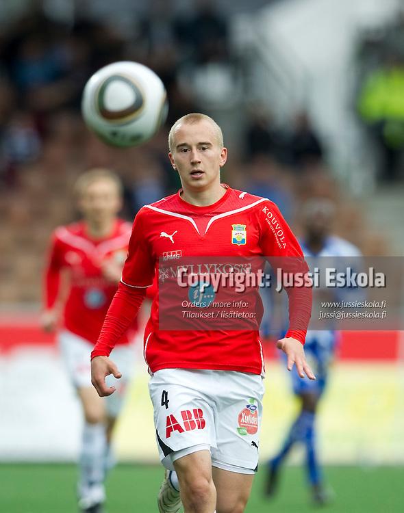 Antti Uimaniemi. HJK - MyPa. Veikkausliiga. 13.6.2010. Photo: Jussi Eskola