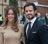 Uppsala, 22-09-2015<br /> <br /> King Carl Gustav and Prince Carl Philip and Princess Sofia attend opening of the General Synod in the Uppsala Domkyrka.<br /> <br /> Photo: Royalportraits Europe/Bernard Ruebsamen