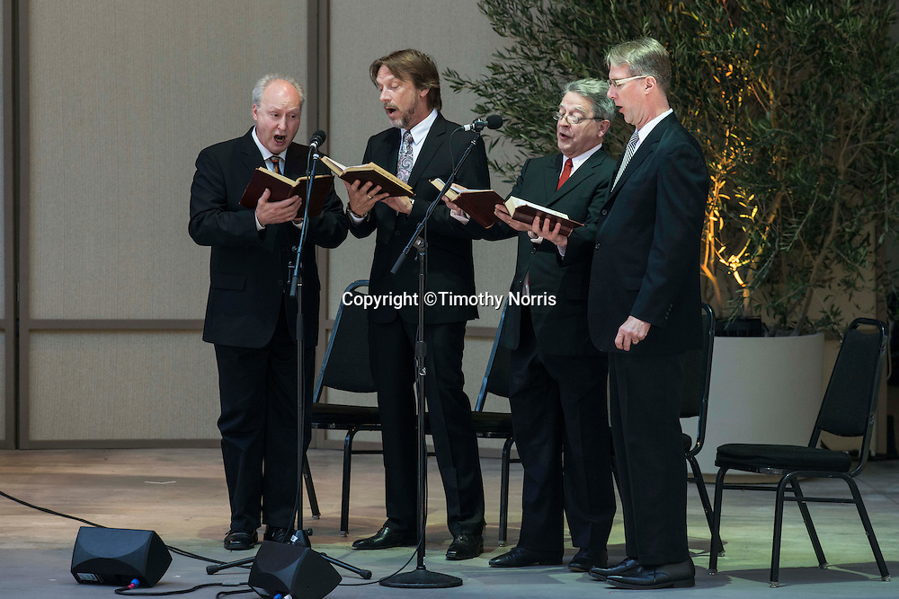 Hudson Shad perform traditional hymns at the 68th Ojai Music Festival at Libbey Bowl on June 14, 2014 in Ojai, California.