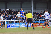 Ashley Eastham scores 3-0 during the Sky Bet League 1 match between Rochdale and Bury at Spotland, Rochdale, England on 12 March 2016. Photo by Daniel Youngs.