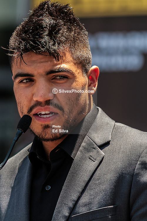 LOS ANGELES - JUNE 21: Former World Champion Victor 'Vicious' Ortiz (29-3-2,22 KO's) of Ventura, Calif at the  Staples Center Press Conference in Los Angeles,CA. All fees must be ageed prior to publication, Byline and/or web usage link must read PHOTO © Eduardo E. Silva/SILVEX.PHOTOSHELTER.COM Failure to byline correctly will incur double the agreed fee.