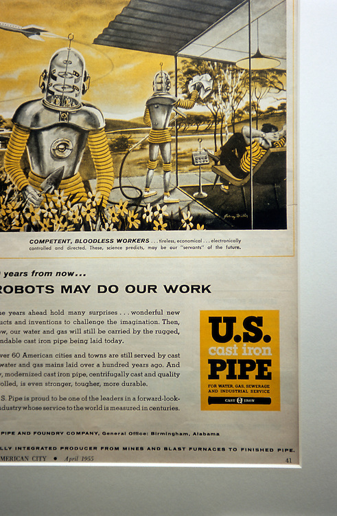 Japan, Nagoya. March/03/2007. ..A US Cast Iron Pipe magazine ad circa 1955.