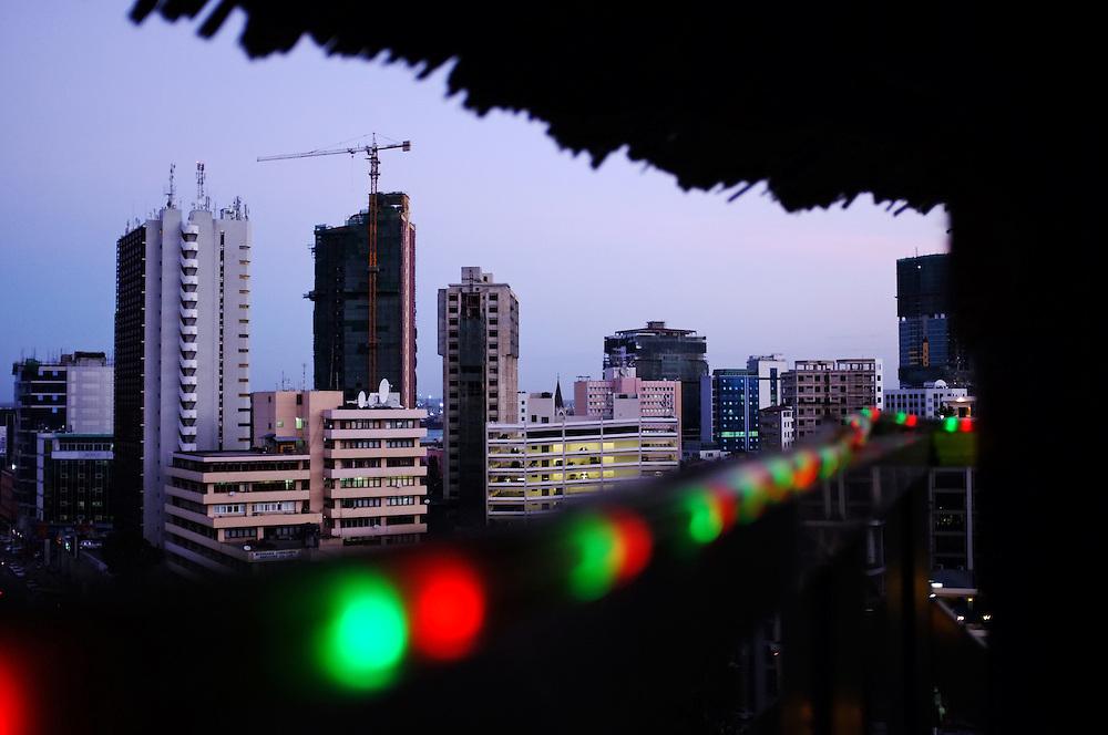 DAR ES SALAAM, TANZANIA - 13-08-22 -  Downtown Dar es Salaam on August 28. Dar es Salaam is one of Africa's fastest growing cities. Photo by Daniel Hayduk