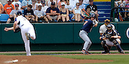 Cal State Fullerton's David Cooper (17) waits on a pitch from Georgia Tech's Blake Wood.  Cal State Fullerton eliminated Georgia Tech with a 7-5 win at the College World Series at Rosenblatt Stadium in Omaha, Nebraska, June 18, 2006.