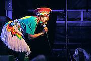 Nederland, Nijmegen, 22-5-2010Optreden van het zangtrio The Mahotella Queens uit Zuid-Afrika als gasten in de band van Alfred, Pee Wee Ellis tijdens het 26e music meeting festival.Still black, still proud, an african tribute to James Brown.Foto: Flip Franssen/Hollandse Hoogte