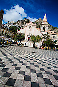 Church of St. Guiseppe on the Plaza IX Aprile, Corso Umberto, Taormina, Sicily, Italy