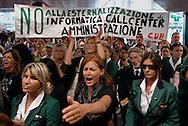 Fiumicino, 17/09/2008: Aereoporto di Fiumicino, le proteste di piloti e assistenti di volo