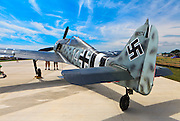A replica Focke-Wulf 190 on display in the warbird area at AirVenture 2011 in Oshkosh, Wisconsin.