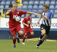 Photo: Aidan Ellis.<br /> Sheffield Wednesday v Birmingham City. Pre Season Friendly. 04/08/2007.<br /> Birmingham's Mikkael Forssell (L) and Wednesday's Richard Hinds