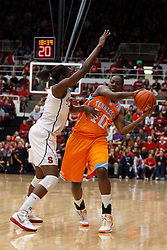 Dec 20, 2011; Stanford CA, USA;  Tennessee Lady Volunteers guard/forward Shekinna Stricklen (40) is defended by Stanford Cardinal forward Chiney Ogwumike (13) during the first half at Maples Pavilion.  Mandatory Credit: Jason O. Watson-US PRESSWIRE
