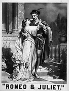 Romeo & Juliet, c1879. Theatre (poster) : lithograph advertising Shakespeare's play, Romeo and Juliet. Shakespeare, William,--1564-1616.--Romeo and Juliet.
