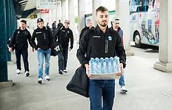 Gregor Koblar during departure to Budapest of Slovenian Ice Hockey National Team, on April 17, 2017 in Railway station, Ljubljana, Slovenia. Photo by Vid Ponikvar / Sportida
