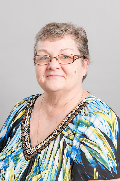 Headshot photograph of Debbie Feenstra at the International Center of The Lutheran Church–Missouri Synod studio on Monday, March 30, 2015. LCMS Communications/Erik M. Lunsford
