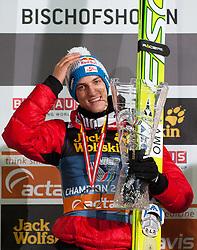 06.01.2012, Paul Ausserleitner Schanze, Bischofshofen, AUT, 60. Vierschanzentournee, FIS Ski Sprung Weltcup, Podium, im Bild Gesamtwertung der vierschanzentournee Gregor Schlierenzauer (AUT, Rang 1) // over all Podium first place Gregor Schlierenzauer of Austria  on Podium during 60th Four-Hills-Tournament FIS World Cup Ski Jumping at Paul Ausserleitner Schanze, Bischofshofen, Austria on 2012/01/06. EXPA Pictures © 2012, PhotoCredit: EXPA/ Johann Groder