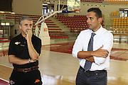 DESCRIZIONE : Roma Lega Basket A 2012-13  Raduno Virtus Roma<br /> GIOCATORE : Marco Calvani Nicola Alberani<br /> CATEGORIA : curiosita ritratto<br /> SQUADRA : Virtus Roma <br /> EVENTO : Campionato Lega A 2012-2013 <br /> GARA :  Raduno Virtus Roma<br /> DATA : 23/08/2012<br /> SPORT : Pallacanestro  <br /> AUTORE : Agenzia Ciamillo-Castoria/M.Simoni<br /> Galleria : Lega Basket A 2012-2013  <br /> Fotonotizia : Roma Lega Basket A 2012-13  Raduno Virtus Roma<br /> Predefinita :